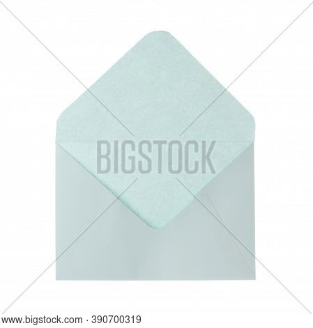 Light Grey Paper Envelope Isolated On White. Mail Service