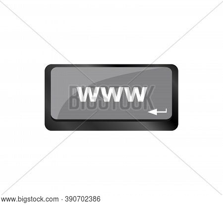 Www Concept With Key On Computer Keyboard