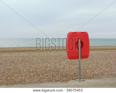 Lifebuoy at beach