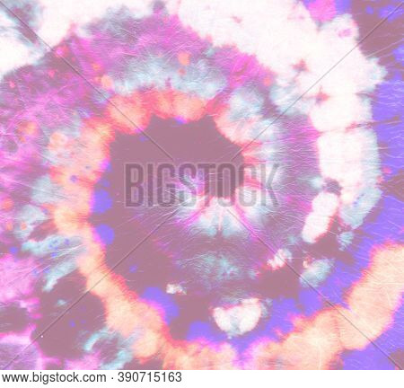 Psychedelic Tie Dye. Abstract Circular Background. Fantasy Artistic Fabric. Circle Grunge Paint. Bat