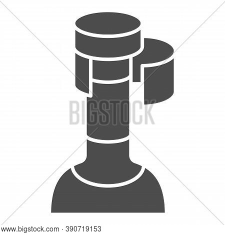 Wine Cork In Bottle Solid Icon, Wine Festival Concept, Bottle With Cork Stopper Sign On White Backgr