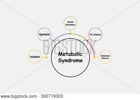 Diagram Of Metabolic Syndrome With Keywords. Eps 10