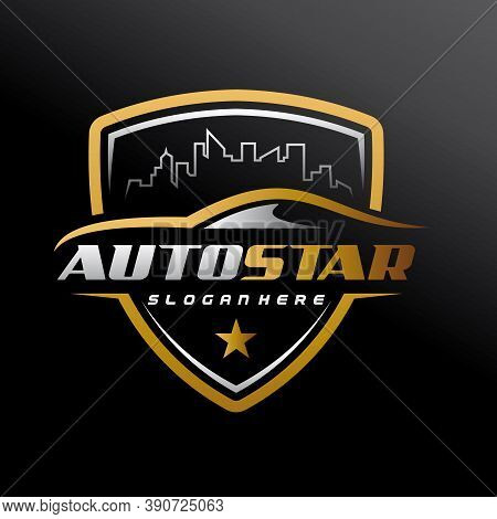 Car Dealer Logo. Car Showroom And Automotive Logo Vector Illustration