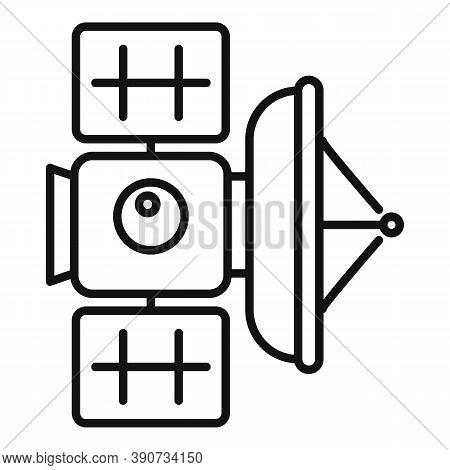 Transmitter Satellite Icon. Outline Transmitter Satellite Vector Icon For Web Design Isolated On Whi