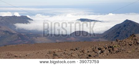 Crater Of Haleakala Volcano