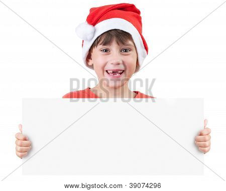Girl In The Image Of Santa Claus