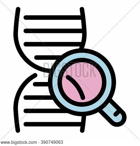 Forensic Laboratory Dna Icon. Outline Forensic Laboratory Dna Vector Icon For Web Design Isolated On