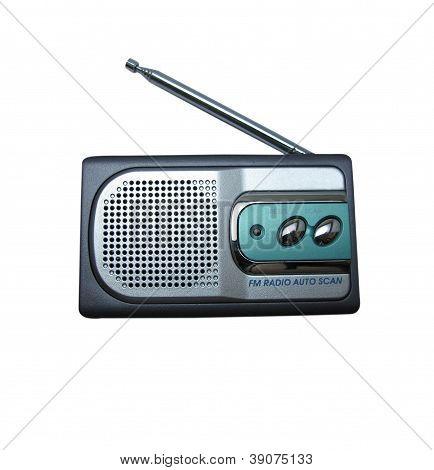 antique radio with vintage style
