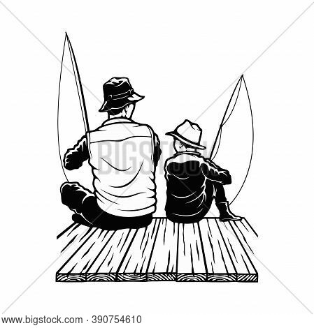 Son And Dad - Fishing Design - Father And Son Fishermans