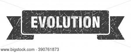 Evolution Ribbon. Evolution Grunge Band Sign. Evolution Banner