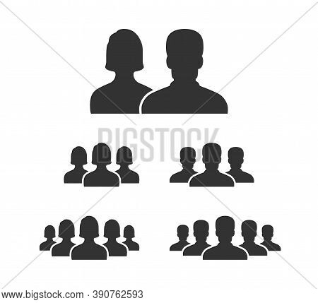 People Vector Icons. People Icons, Isolated. People. Man And Woman. Business Persona Symbols. Team O