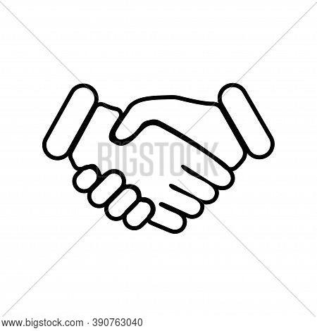 Handshake. Business Concept Handshake. Handshake Vector Icon, Isolated. Vector Illustration