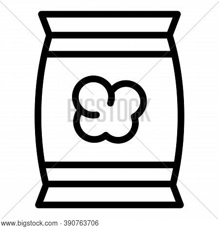 Popcorn Pack Icon. Outline Popcorn Pack Vector Icon For Web Design Isolated On White Background