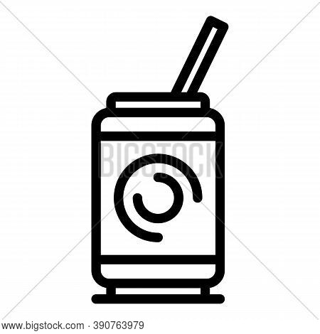 Soda Icon. Outline Soda Vector Icon For Web Design Isolated On White Background