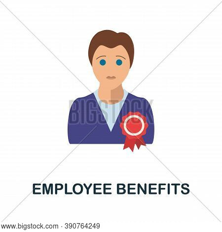Employee Benefits Icon. Simple Element From Business Motivation Collection. Creative Employee Benefi