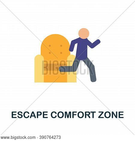 Escape Comfort Zone Icon. Simple Element From Business Motivation Collection. Creative Escape Comfor