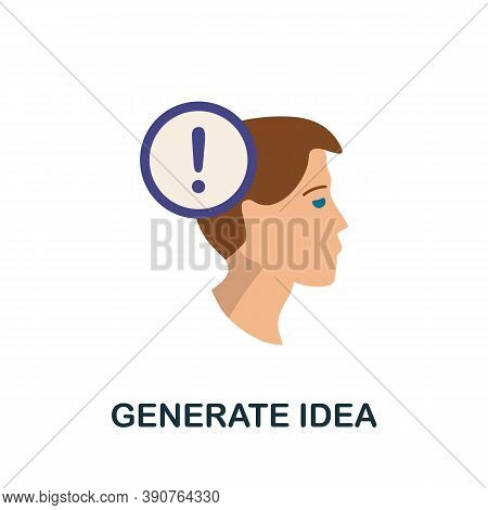 Generate Idea Icon. Simple Element From Business Motivation Collection. Creative Generate Idea Icon