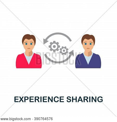 Experience Sharing Icon. Simple Element From Business Motivation Collection. Creative Experience Sha