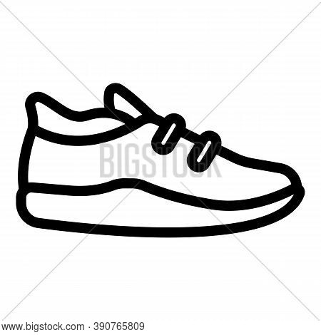 Trendy Sneakers Icon. Outline Trendy Sneakers Vector Icon For Web Design Isolated On White Backgroun