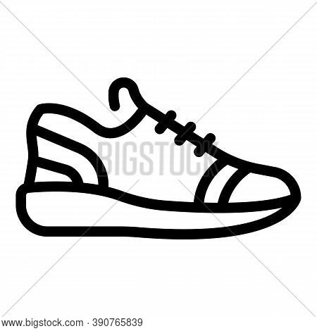 Sneaker Footwear Icon. Outline Sneaker Footwear Vector Icon For Web Design Isolated On White Backgro
