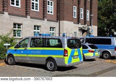 Bochum, Germany - September 17, 2020: German Police Vehicle Parked In Bochum. North Rhine-westphalia