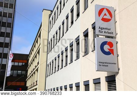 Gelsenkirchen, Germany - September 17, 2020: Agentur Fur Arbeit (employment Agency) Of Gelsenkirchen