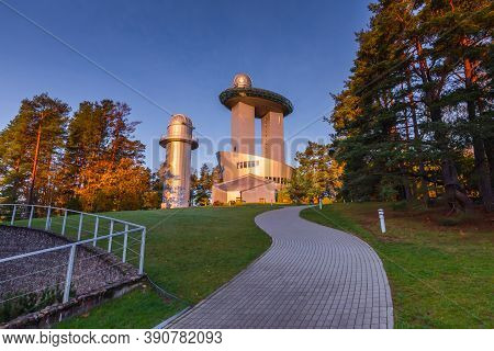 Moletai, Lithuania, October 20, 2020 Ethno-cosmological Museum And Modern Observatory In Moletai, Li