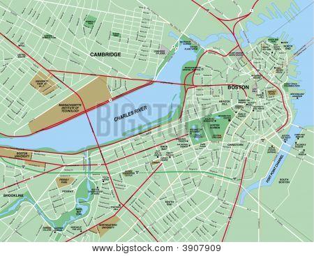 Boston, Ma Area Map