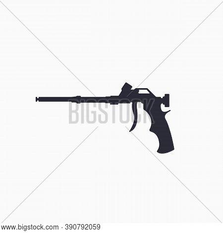 Foam Gun Icon. Construction Tool Icon. Gun For Household Balloon