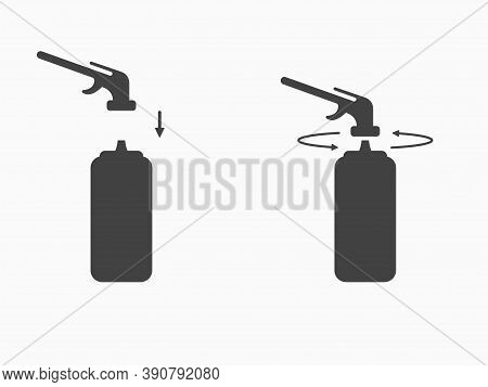 Set Assembly Instructions For Polyurethane Foam Or Gas Burner Icon. Using Sealant A Balloon For Moun