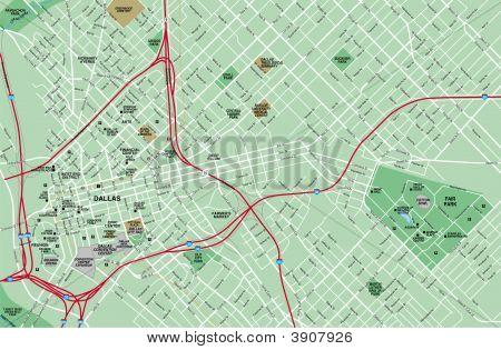 Downtown Dallas Texas Map