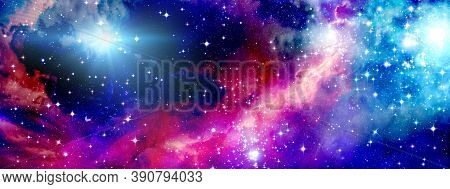 Colorful Space Background Fantasy ,starlight ,night Starry Sky , Universe