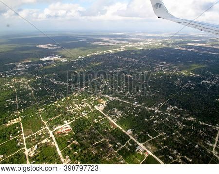 Cancun, Mexico - 01 Mar 2011: Yucatan, The View From Airplane, Mexico
