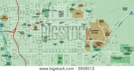 Downtown Salt Lake Map