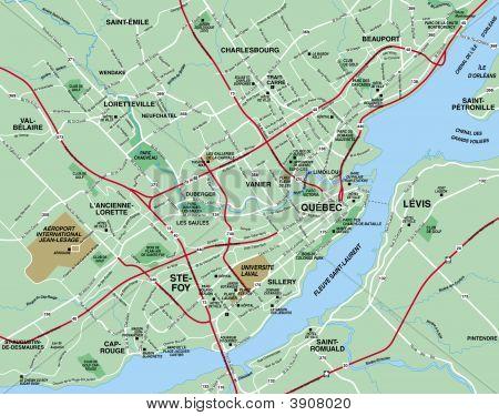 Quebec, Montreal, Canada Map