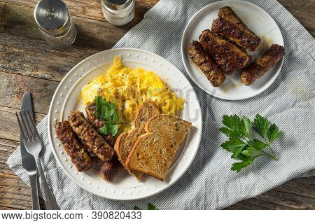 Greasy Cooked Pork Breakfast Sausage