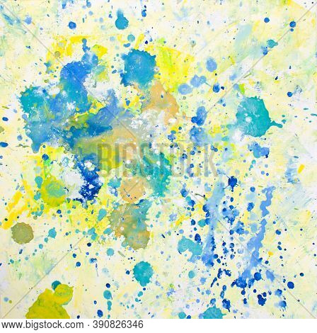 Abstract Color Art Background Multi-colored Paint Splashes. Colorful Texture. Bright Spring And Summ