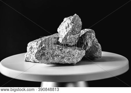 Aluminum, Geology, Tin Ingots, Shiny, Pegmatite, Hydrothermal, Background, Oxide, Closeup, Bolivia,