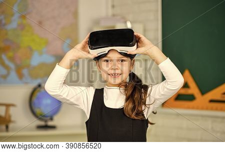 Enjoying New Experience. Back To School. In Computer Science Class. Works On Programing Project. Vr