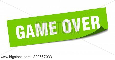Game Over Sticker. Game Over Square Sign. Peeler