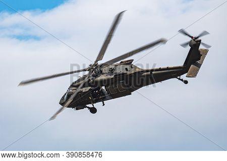 Sliac / Slovakia - August 3, 2019: Slovak Air Force Sikorsky Uh-60m Black Hawk 7642 Transport Helico