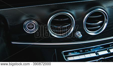 Start Button Engine And Car Ventilation Grille Air Conditioning