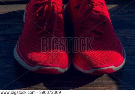 Red Vivid New Sneakers. Red Sneakers. Sport Shoes