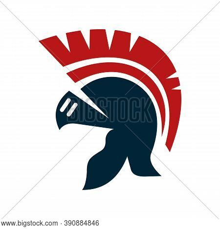 Spartan Logo Design Symbol. Warrior Helmet Icon Vector Illustration, Logo Design