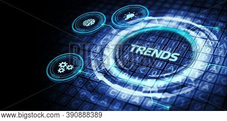 Business, Technology, Internet And Network Concept. Recent And Latest Trend.3d Illustration