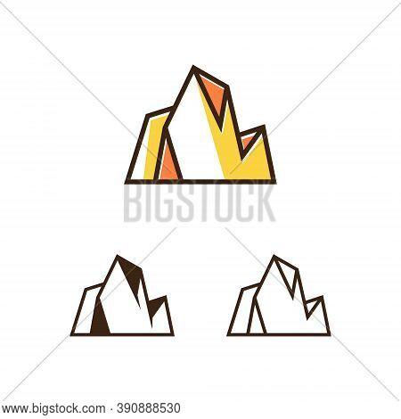 Rocky Mountain Summit Nature Explore Adventure Modern Logo
