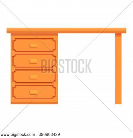 Cozy Home Desktop Computer Icon. Cartoon Of Cozy Home Desktop Computer Vector Icon For Web Design Is