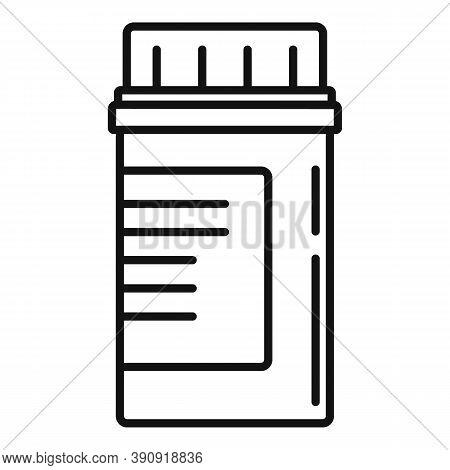Aspirin Pill Jar Icon. Outline Aspirin Pill Jar Vector Icon For Web Design Isolated On White Backgro
