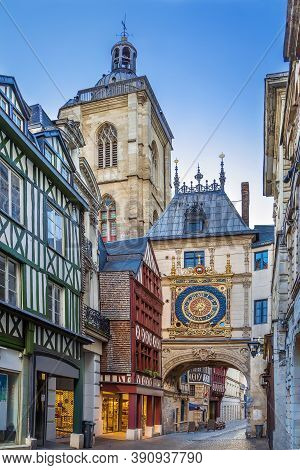 Gros-horloge (english: Great-clock) Is A Fourteenth-century Astronomical Clock In Rouen, Normandy, F
