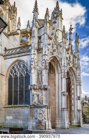 The Church Of Saint-maclou Is A Roman Catholic Church In Rouen, France. Portal